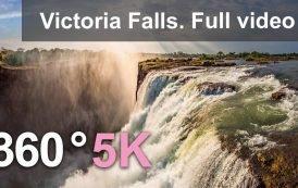360 видео, Водопад Виктория, Жемчужина Африки. 5К видео с воздуха.