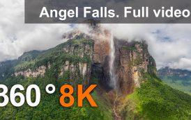 360°, Водопад Анхель, Венесуэла. 8К видео с воздуха
