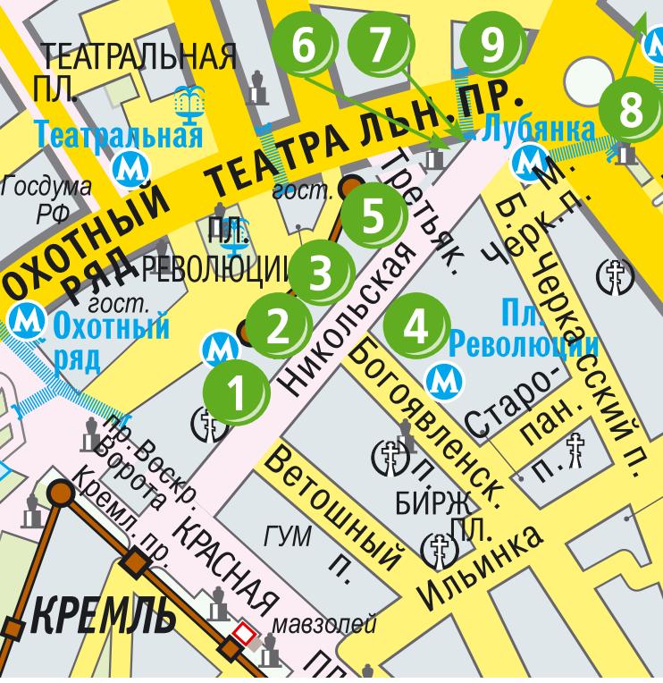 План схема Никольской улицы