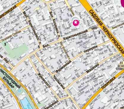 Карта-схема Юсуповский дворец