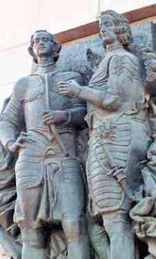 Памятник Петру I и Лефорту