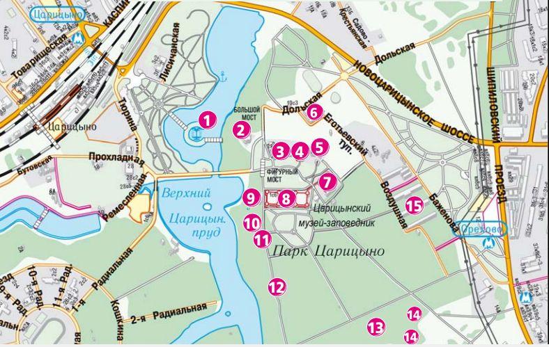 План-схема Царицыно