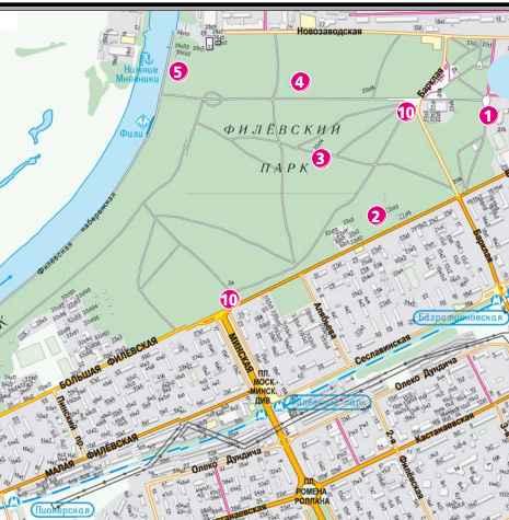 План-схема Филевский парк 2