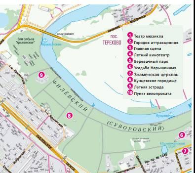 План-схема Филевский парк