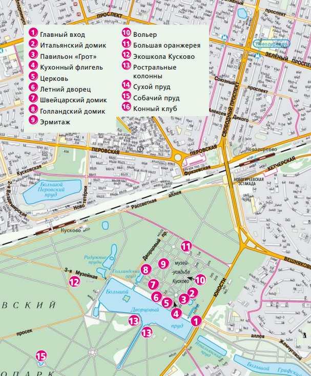 План-схема усадьбы Кусково