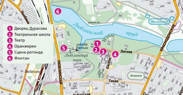 План-схема Люблино