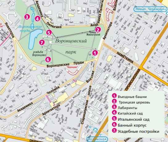 План-схема Воронцово