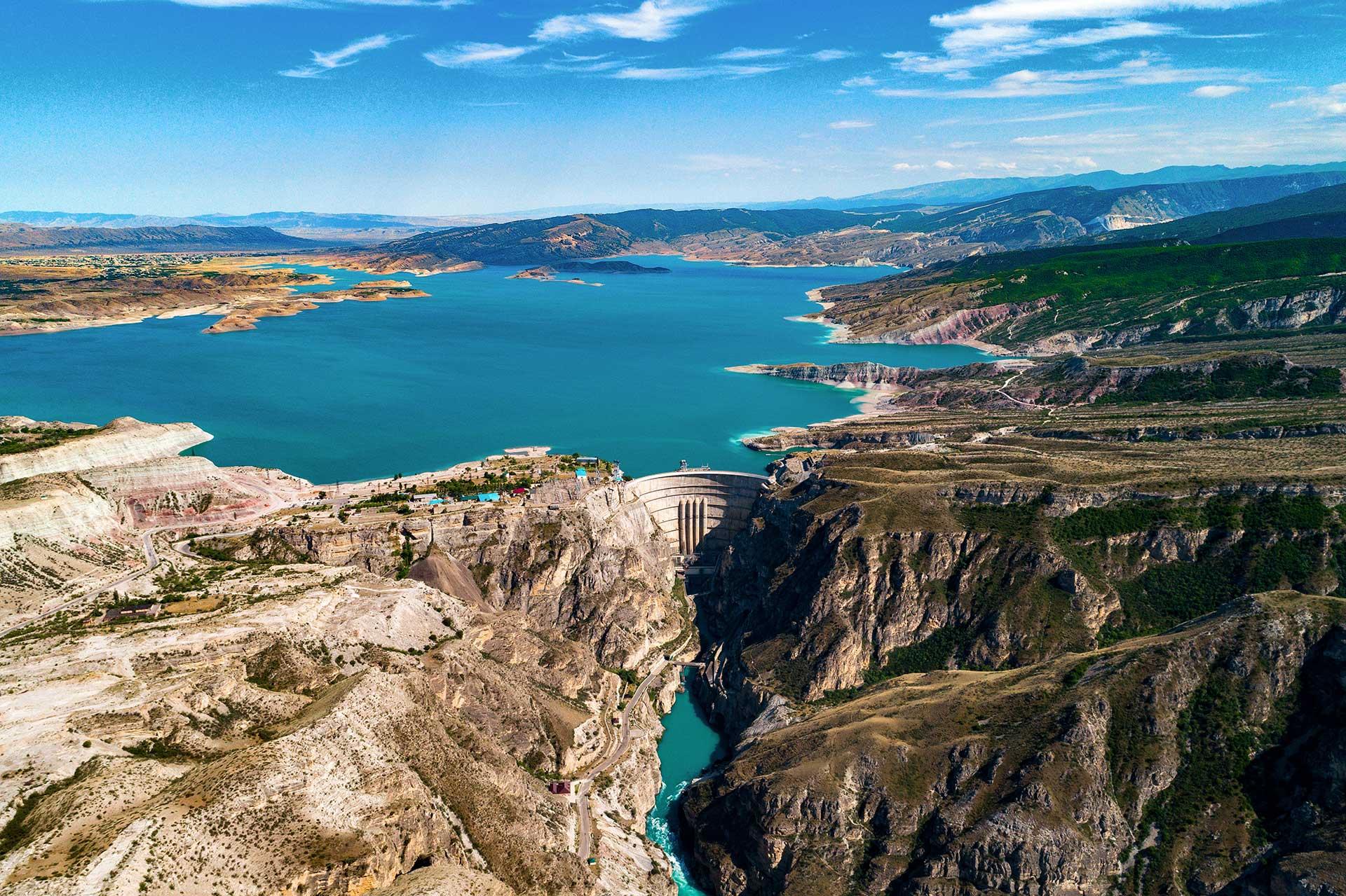 Чиркейское водохранилище и ГЭС