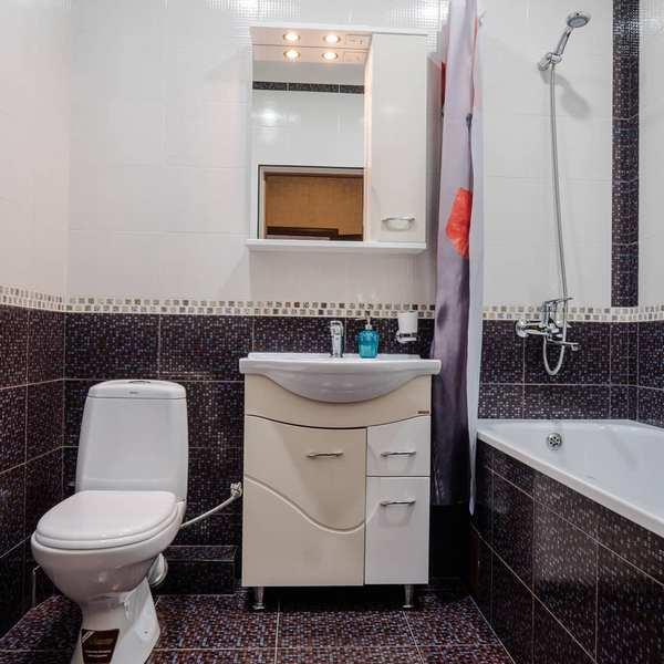 Ванная комната в гостинице Белые журавли в Гунибе